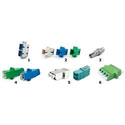 Dätwyler Cables 418519 adattatore di fibra ottica LC/APC 1 pz Blu