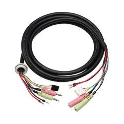 Axis 5505-511 cavo di interfaccia e adattatore audio in x 2, AC audio out x 2, DC Nero