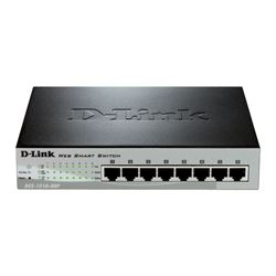 D-Link DES-1210-08P switch di rete Gestito Fast Ethernet (10/100) Nero Supporto Power over Ethernet (PoE)