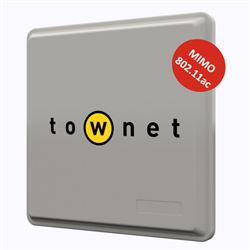 Townet 900-20-BR punto accesso WLAN 866 Mbit/s Supporto Power over Ethernet (PoE) Grigio